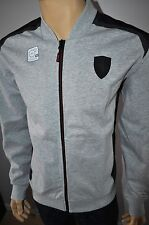NEW $110 PUMA MEN`S FERRARI SWEAT JACKET LIGHT GRAY HEATHER Sz L 570676 04