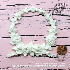 "Shabby Chic Furniture Appliques ""Not Too Shabby Floral Wreath"""