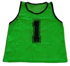 WORKOUTZ NUMBERED ADULT GREEN SCRIMMAGE VEST SET (12 QTY) SOCCER PINNIES VESTS
