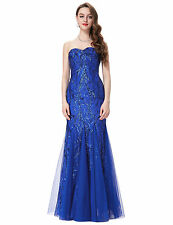 Sparkly Sequin Mermaid Long Formal Ball Gown Evening Prom Cocktail Party Dresses