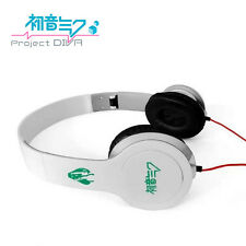 Anime Hatsune Miku White Headphone Headset Earphone Logo Girl Emblem New in Box