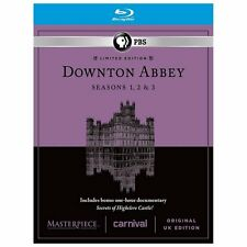 Masterpiece: Downton Abbey - Seasons 1-3 (Blu-ray Disc, 2013, 9-Disc Set) MINT