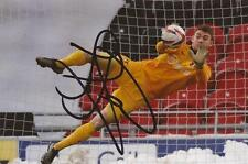 LEYTON ORIENT: JAMIE JONES SIGNED 6x4 ACTION PHOTO+COA