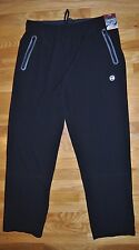 NWT Mens Free Country Black Elevated 4 Way Stretch Active Pants Size L Large