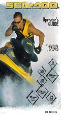 Sea-Doo Owners Manual Book 1998 SPX, GS, GSX LIMITED, XP LIMITED, GTS & GTI