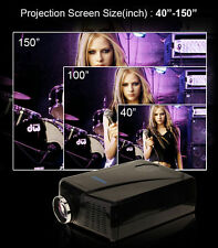 5000 Lumens HD 1080P LED Projector Home Movie Theater 3D VIEW VGA USB HDMI TV OY