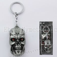 Movie Film The Terminator Robot Mask Metal Pendant Key Ring Chain SilverBlack #1