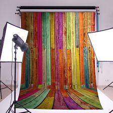 FONDALE STUDIO FOTOGRAFICO SFONDO LEGNO MULTICOLORI SCENARIO PROFESSIONALE 1*1.5