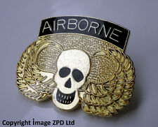 ZP260 Military Air Assault Airborne Skull Wings Lapel Pin Badge Army Infantry
