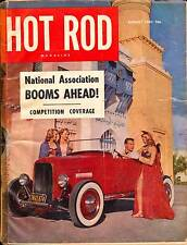 HOT ROD AUG 1951,1930 MERCURY SEDAN,CHOPPED 1932,CAVALIER,AUGUST HOTROD MAGAZINE