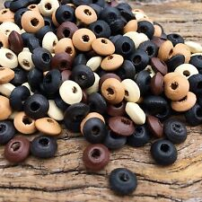 8x4mm Oval Wooden Rondel Beads, 20 grams approx 275 beads excellent quality