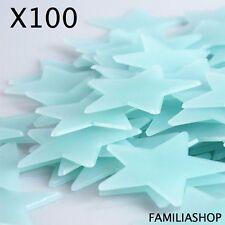 Lot 100 étoiles phosphorescentes bleues lumineuse la nuit déco chambre enfant