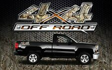 2 4x4 Off Road Truck Camouflage Camo Truck Bed Decals Stickers-BOB