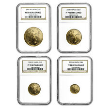 2005-W 4-Coin Proof Gold American Eagle Set PF-70 NGC - SKU #57811