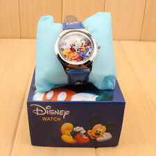 Cartoon Mickey Mouse Leather Wrist Watch Girl Boy Teens Kids Children Watches