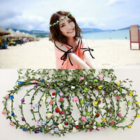 Trendy Rose Flower Crown Headband Hair Garland Bride Wedding Headwear Beach