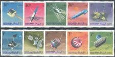 Manama 1968 ** Mi.87/96 A Weltraum Space Luna Explorer Raumsonden