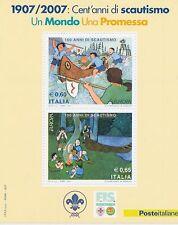 """2007 EUROPA CEPT Italia/Italy Foglietto """"Scouts"""" MNH**"""