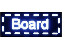 "White Color - 15"" x 40"" Storefront LED Message BoarD"