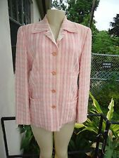 ESCADA PINKS TWEED FLOWER BUTTON WOOL BLEND JACKET GR Sz 40 MADE IN GERMANY