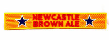 NEWCASTLE Brown Ale Rubber Bar Rail Spill Drain Mat Glass Beer Bottle Yellow New