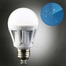 5W E27 LED PIR Motion Sensor Detection Lamp Warm/White Bulb Outdoor Night Light