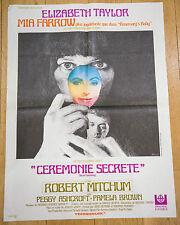 Affiche de cinéma : CÉRÉMONIE SECRETE de JOSEPH LOSEY
