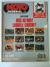 N°932 MOTO JOURNAL; Comparatif Trail/ Yamaha 125 TDR/ Aprilia 125 Pegaso