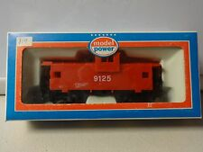 Vintage Model Power Red Caboose # 9125 HO New In Box Safety Man Alert Never Hurt
