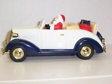 SANTA'S 1937 CHEVY CONVERTIBLE LIMITED EDITION DIE CAST METAL BANK BY1/25 SCALE