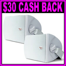 BRAND NEW Klipsch AW-525 300W Outdoor Speakers Paintable Grille White Pair