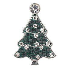 18mm 4 Colors Crystal Fashion Christmas Tree Metal Button Snap Jewelry Vn-700