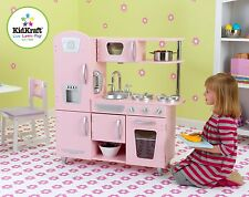 BRAND NEW KIDKRAFT PINK VINTAGE  WOODEN KITCHEN CHILDS PLAY KIDS CHEF TOY PINK