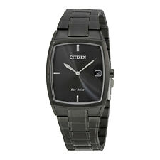 Citizen Eco-Drive Black Stainless Steel Mens Dress Watch AU1077-59H
