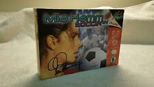 Mia Hamm Soccer Nintendo 64 Complete In Box 2000 TESTED FREE SHIPPING
