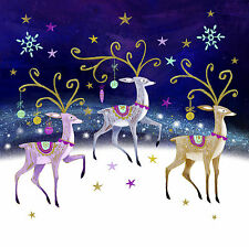 A Trio of Reindeer - 10 pack Charity Christmas Cards Brain Tumour Research