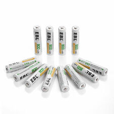 (12) EBL AAA Rechargeable Replacement Batteries For Camera Flashlight Games Etc.