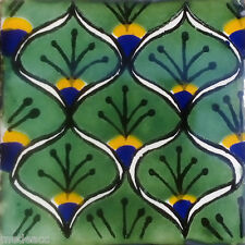 90 MEXICAN CERAMIC TILES WALL OR FLOOR USE CLAY TALAVERA MEXICO POTTERY #C056
