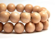 40 - 10mm Natural Rosewood Wood Beads Light Wooden Round Rose Wood Craft D-N07