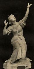 Sculpture Statue Jeanne d'Arc - Allar Photogravure XIXème