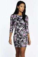 BOOHOO ASOS HOPE FLORAL WET LOOK BODYCON DRESS SIZE 8 BNWT