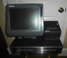 MICROS MODEL WORKSTATION 4 WS4 POS SYSTEM UNIT WITH CASH DRAWER & PRINTER