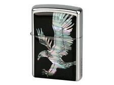 "ZIPPO ""MOTHER OF PEARL - EAGLE"" LIGHTER * NEW in WOODEN BOX *"