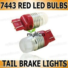 2x W21/5W 7443 380W HIGH POWER RED REAR BRAKE STOP XENON LED LIGHT BULBS L102A