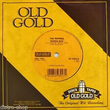"""7"""" THE PEPPERS Pepper Box 1974 / HOT BUTTER Popcorn 1972 OLD GOLD 45rpm UK 1985"""