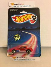 #1  Fiero 2M4 1458 * RED * 1986 Malaysia * Vintage Hot Wheels * E18