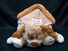 Delightful! HAPPY NAPPERS Plush Puppy Dog in Doghouse Pillow
