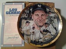 "The ""Legendary"" Lou Gehrig 23K Gold Bordered Commerative Plate.."
