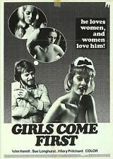 GIRLS COME FIRST 70s SEXPLOITATION movie poster SUE LONGHURST/CHRISTINA LINDBERG