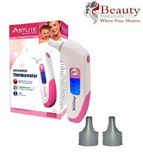 Astute Infrared Pink Ear Thermometer Free Protective Storage Case & Probe cover